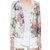 Embossed Floral Blazer With Zippers On Sleeves - Choies.com