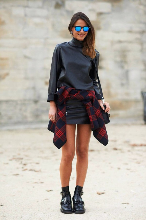 fall outfits girly fall outfits top black leather turtleneck leather turtle neck
