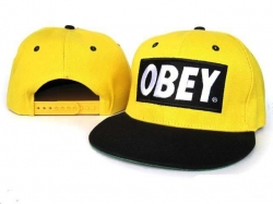 Obey Snapback Hat&Cap Yellow-Black [Obey025] - $7.50 :