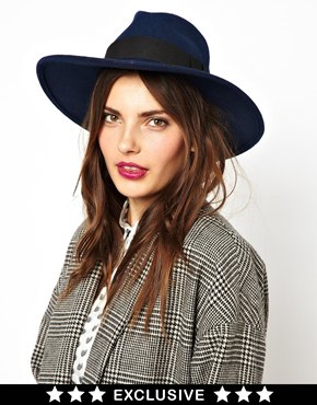 Catarzi | Catarzi Exclusive To ASOS Classic Navy Fedora Hat at ASOS