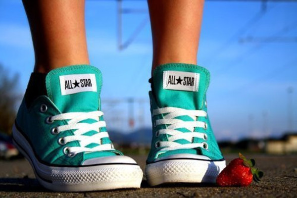 shoes trainers all star converse turquoise converse