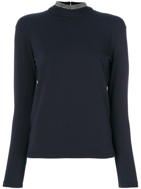 Fabiana Filippi blouse women cotton blue top