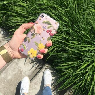 phone cover yeah bunny floral flowers iphone cover iphone case cherry