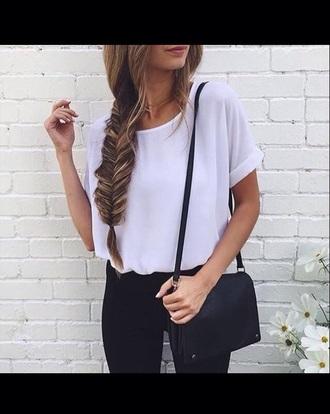 blouse white white blouse shirt sheer sheer blouse white top style
