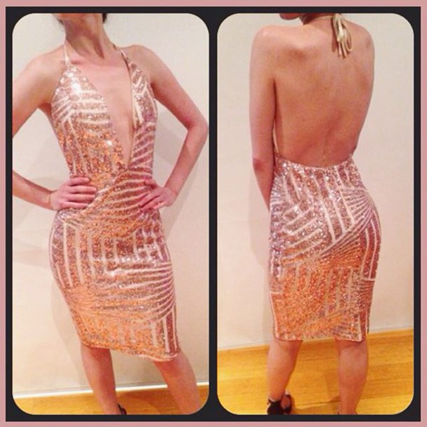 415e7ba0b9c dress lost souls gold dress sequin dress gold sequins dress gold sequins v  neck dress plunge