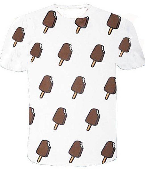 ice cream collage full print graphic shirt
