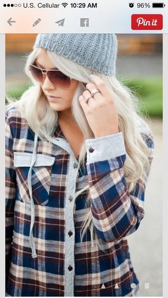 hoodie jacket flannel shirt
