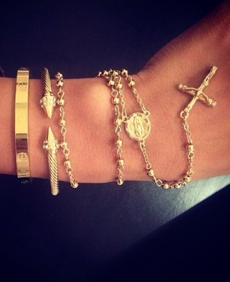jewels gold rosary home accessory jewelry gold gold bracelet bracelets stacked bracelets arm party arm candy bracelet stack