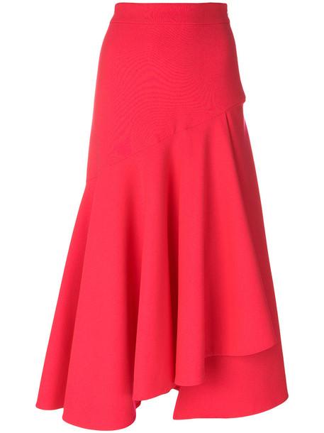 Temperley London skirt women spandex silk wool purple pink