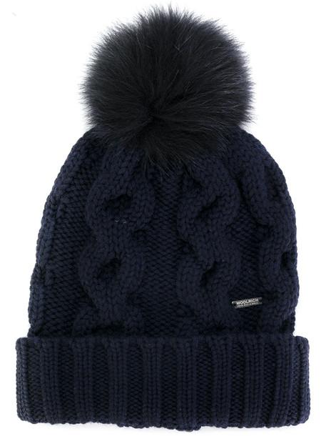 beanie knitted beanie blue hat