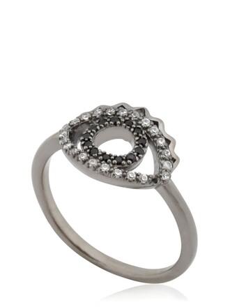 mini eyes ring black jewels