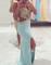 Line backless chiffon long prom dresses,formal dresse