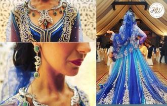 dress caftan blue dress arabic wedding dresses