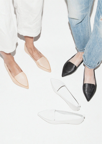 le fashion blogger jeans shoes loafers minimalist black shoes nude shoes white shoes