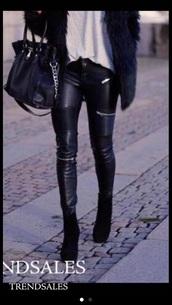 jeans,black,biker jeans,zara,www.zara.com,zip,zipped jeans,leather jeans pants,leather pants,leggings