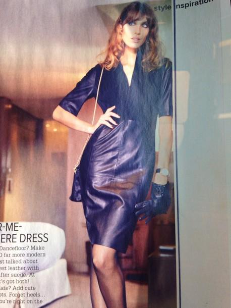 dress stills black leather&suede