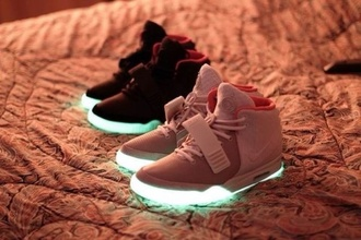 shoes grey shoes glow in the dark shoes glow black shoes