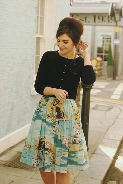 skirt vintage skirt 50s style