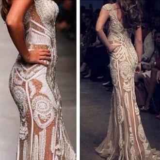 dress whte white white dress see through pattern women wedding dress sexy wedding