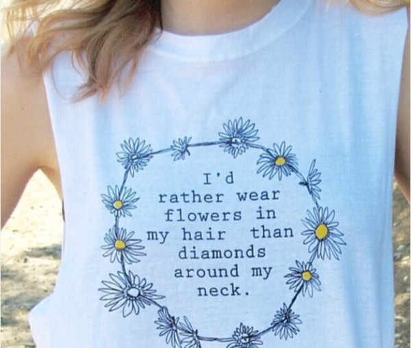 shirt hippie daisy