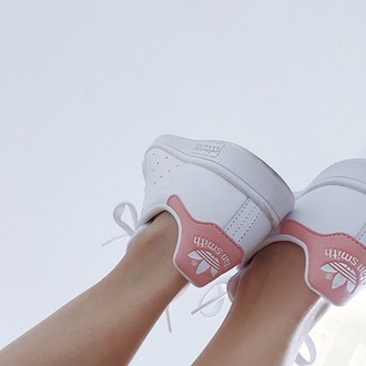 shoes adidas stan smith pink shoes pastel sneakers