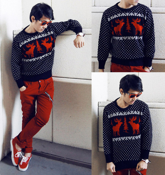 menswear lookbook outfit christmas sweater outerwear kiko cagayat winter outfits winter jacket