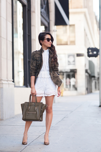 wendy's lookbook blogger jacket romper bag shoes sunglasses jewels