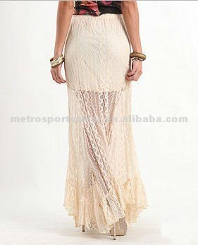 Women's Solid Lace Maxi Skirt - Buy Maxi Skirt 2012,Long Lace Skirt,Long Maxi Skirt Product on Alibaba.com