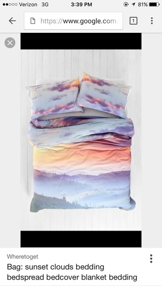 home accessory sunset bedding blanket