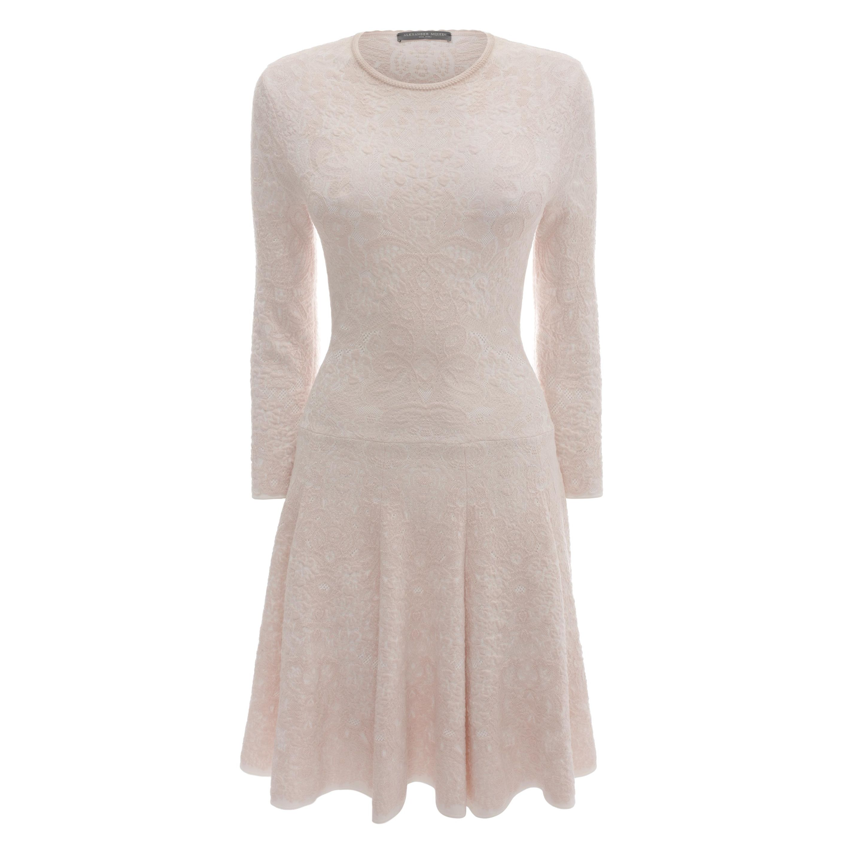 Spine Lace Crochet Jacquard Knit Dress Alexander McQueen | Mini Dress | Dresses |