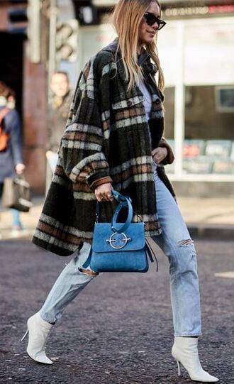 coat streetstyle london fashion week 2018 pernille teisbaek blogger instagram jeans