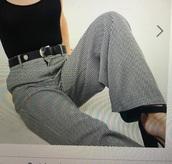 pants,large,vichy print,pied de poul,asos