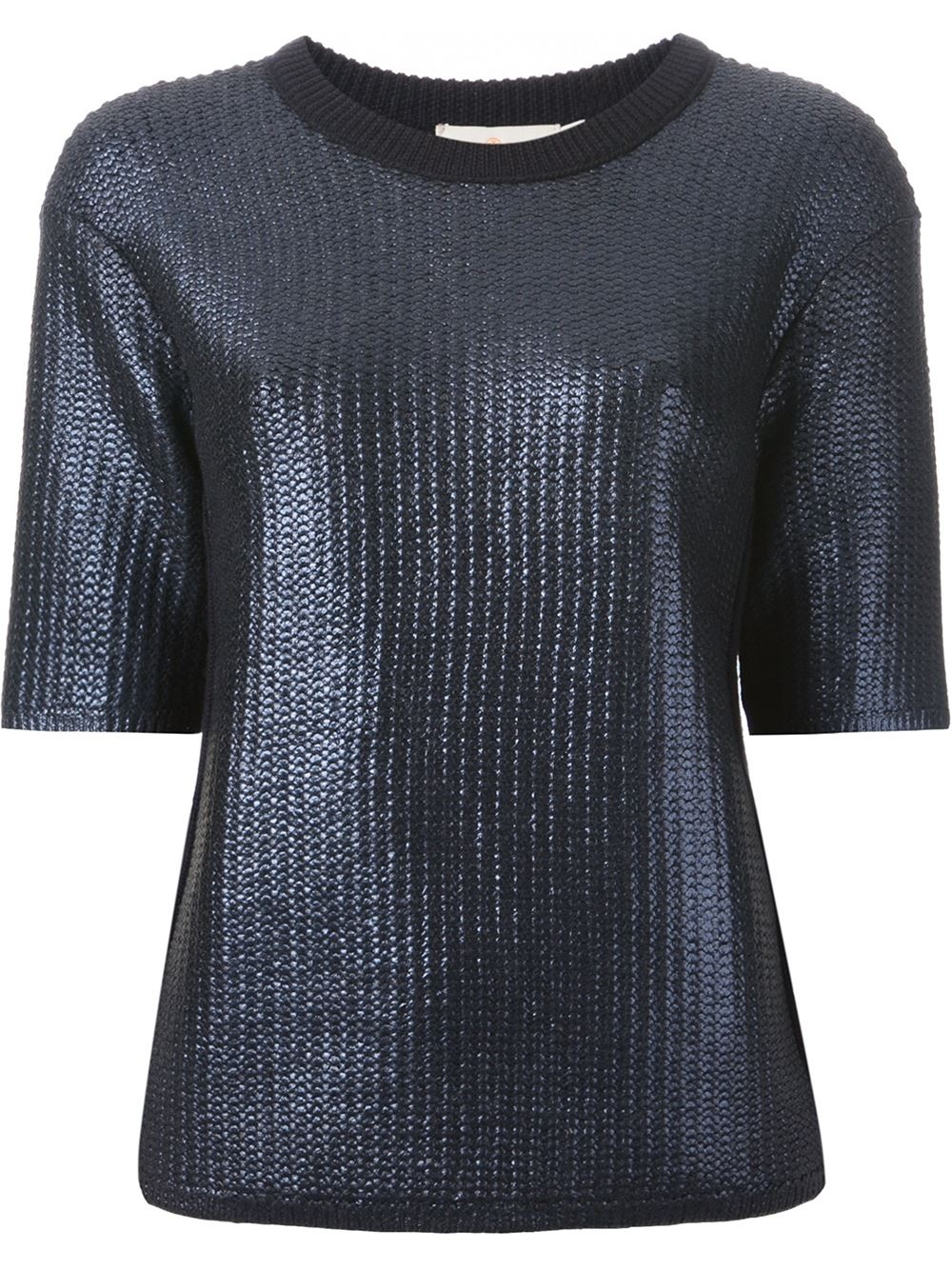 Tory burch chunky knit shortsleeved sweater