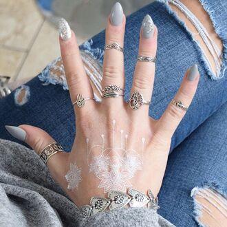 jewels cherry diva boho bohemian knuckle ring ring silver silver ring silver jewelry sterling silver rings boho jewelry