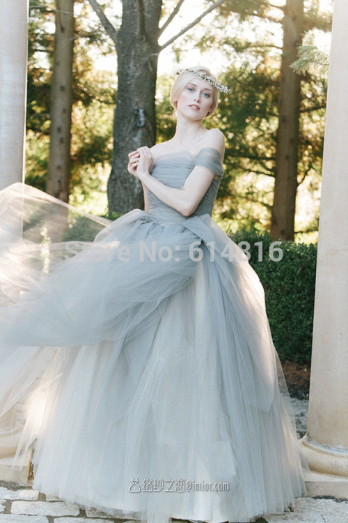 Aliexpress.com : Buy Famous Designer Warm Gray Tulle Princess ...
