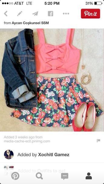 tank top cute colors skirt