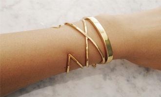 jewels bracelets set bracelets gold gold bracelet armband jewelry gold jewelry minimalist jewelry cuff bracelet triangle geometric criss cross