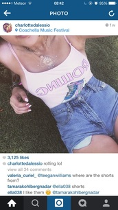 shirt,charlotte d'alessio #lightpink # leotard      #rollingdkates,coachella,shorts
