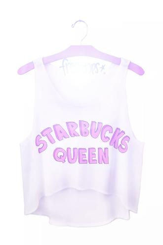 shirt starbucks coffee hipster queen