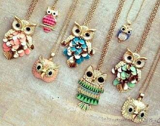 jewels necklace owl