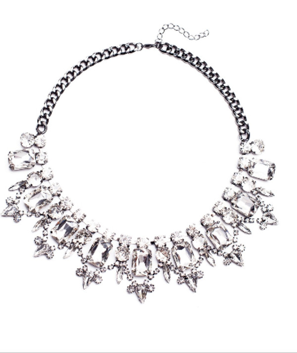 jewels necklace jewelry gems diamonds statement necklace crystal