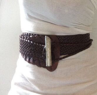 belt tribal fusion brown belt braided belt wide belt tan belt tribal fusion belt boho belt boho chic brown leather belt dark brown leather belt cincher leather leather belt leather tan