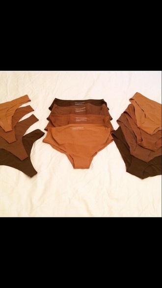 underwear dark nudes panties cotton set nude brown