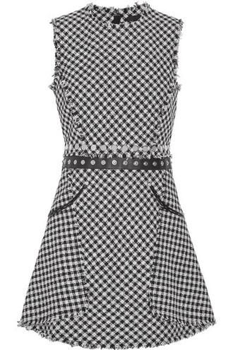 dress mini dress mini embellished cotton black