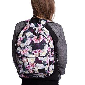 bag backpack roses printed bag printed backpack floral flowers fusion floral backpack