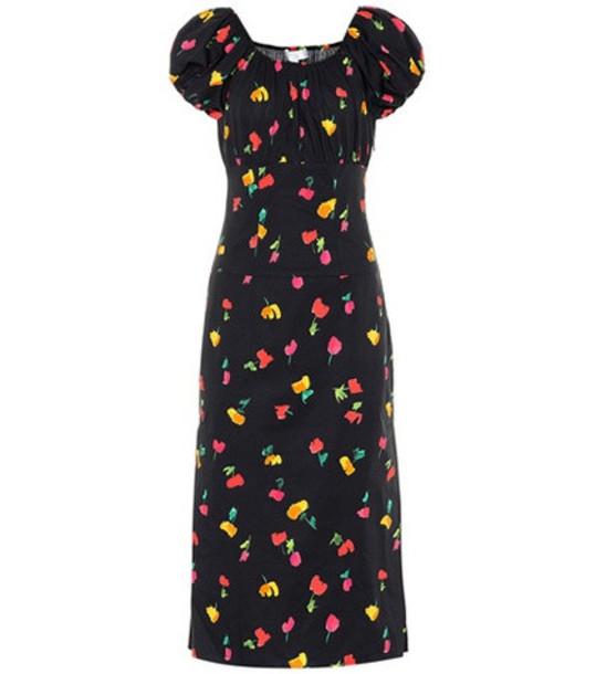 Caroline Constas Calla stretch silk dress in black