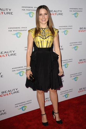 sophia bush yellow dress little black dress