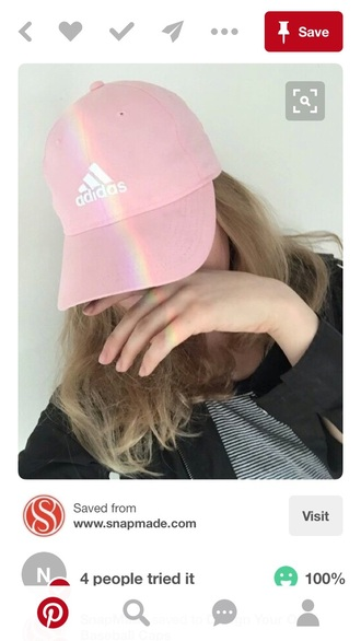 hat pink adidas