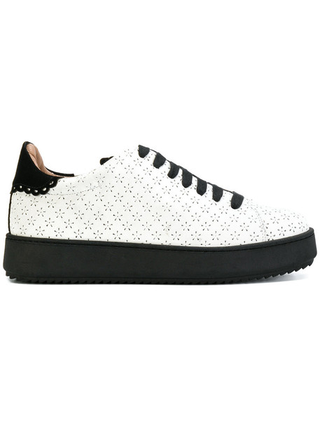 Twin-Set women sneakers leather white shoes