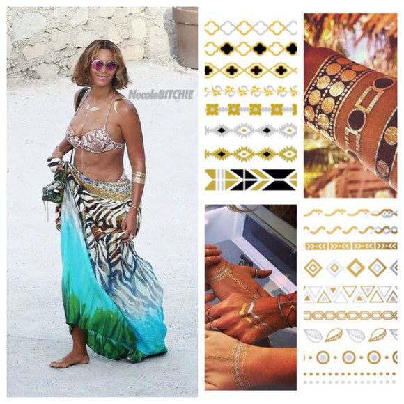 jewels body gold tattoo beyoncé